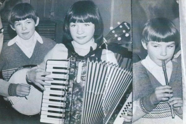 1981 Kevin, Aidan & Martina Waldron. Jnr. Scor Co. Winners.
