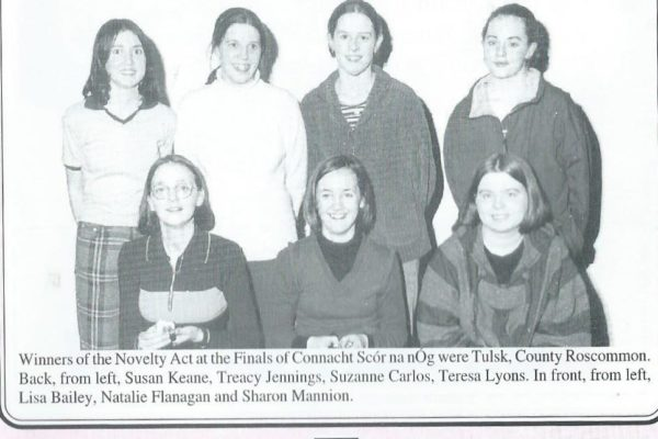 1998 Jnr. Novelty Act, All-Ireland Finalists.