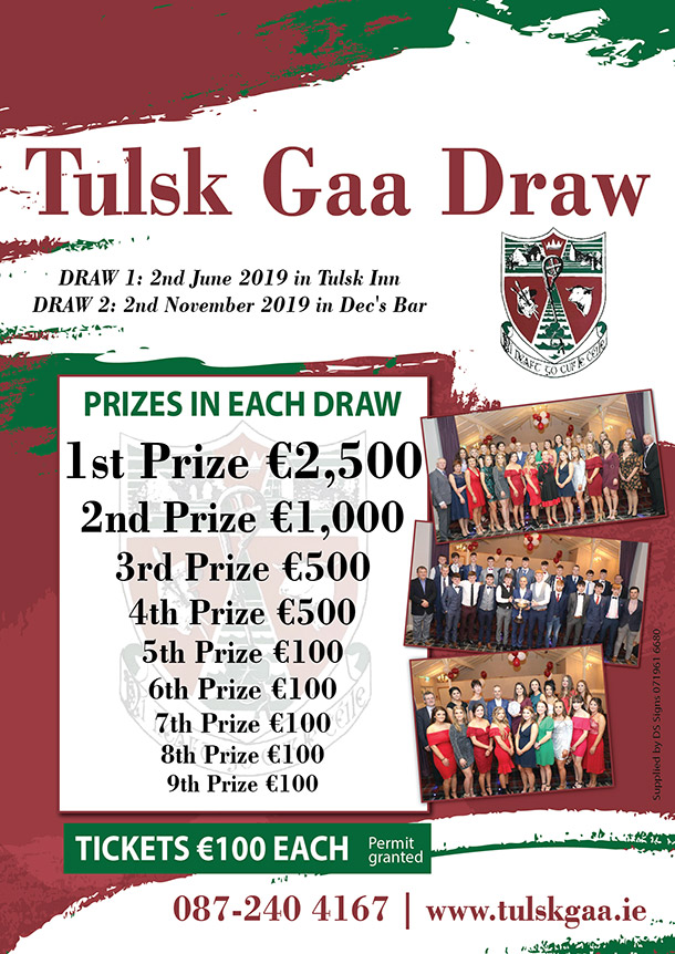 tulsk gaa club draw